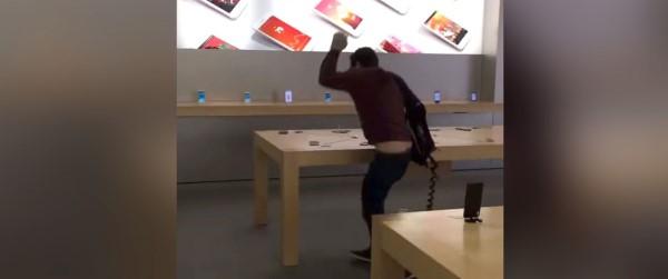 សាហាវ! ដើរវាយកម្ទេច iPhone ក្នុងហាងអស់ជាច្រើនគ្រឿង ដោយសារ... (មានវីដេអូ)